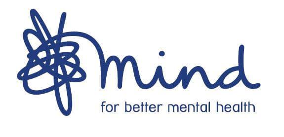 Mind Logo blue on white background
